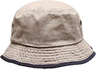 MIRMARU Summer Adventure Foldable 100% Cotton Stone-Washed Bucket hat with Trim.