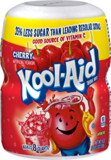 Kool Aid Cherry Drink Mix (19 oz Canister, Pack of 12)