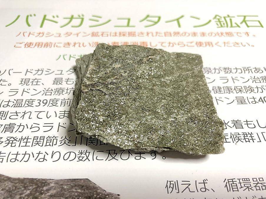 手花に水をやる一掃するバドガシュタイン鉱石 クラス4 4~9μSV/h未満 (約50g詰め)