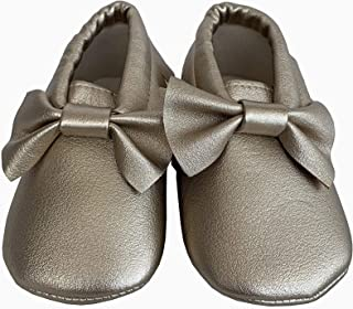 Cuts and Fits Moccasins Gold Shoes For Baby