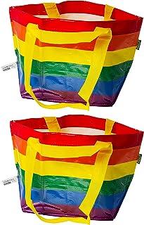 Ikea StorstoMMA Kleine Regenbogen Pride Beutel, 13 Liter, 27 x 27 cm, 2 Stück