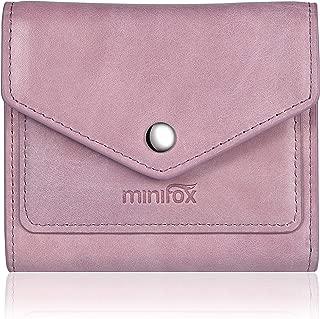 Minifox RFID Blocking Women's Credit Card Holder Small Leather Wallet for Women, Mini Bifold Pocket Purse