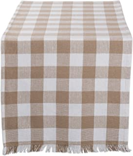 DII CAMZ10443 Table Runner, 14x72, Checkered Stone Brown