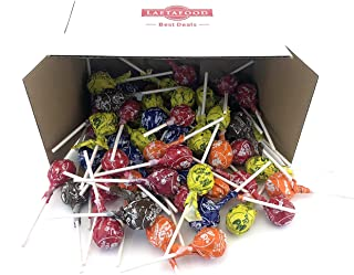 LaetaFood Pack, Tootsie Roll Lollipops, Original Assorted Flavors Pops Candy - Chocolate, Orange, Cherry, Grape, Lemon, Raspberry - 2.2 Pound Pack - 50 Count