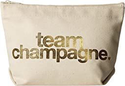 Dogeared - Team Champagne Gold Foil Lil Zip