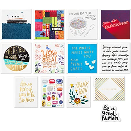 Thanks a Melon Food Puns Punny Cards Pack of 6 Variety Pack Kindness Rules Thank You Card Variety Pack Cute Stationery