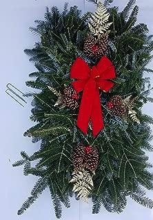 Premium Large Fresh Natural Christmas Grave Blanket
