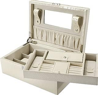Cheri Bliss JC-400 Jewelry Case, Cream, Medium