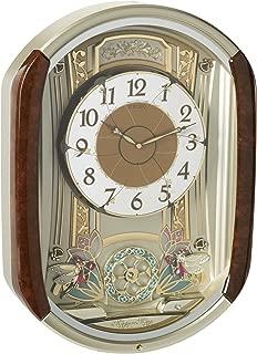 seiko brown plastic rotating pendulum clock