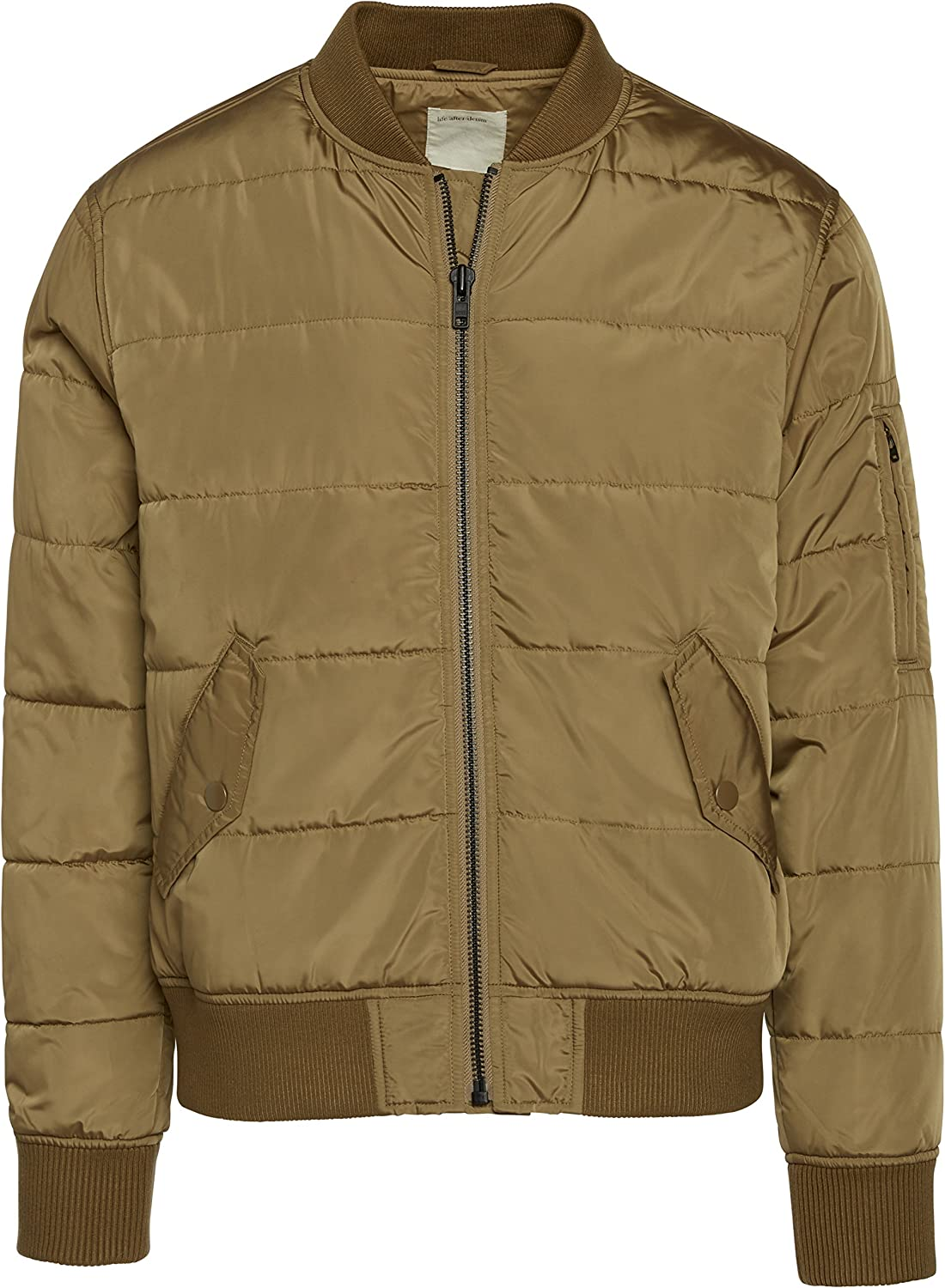 Life After Denim Mens Contemporary M1 Bomber Puffer Jacket Insulated Jacket