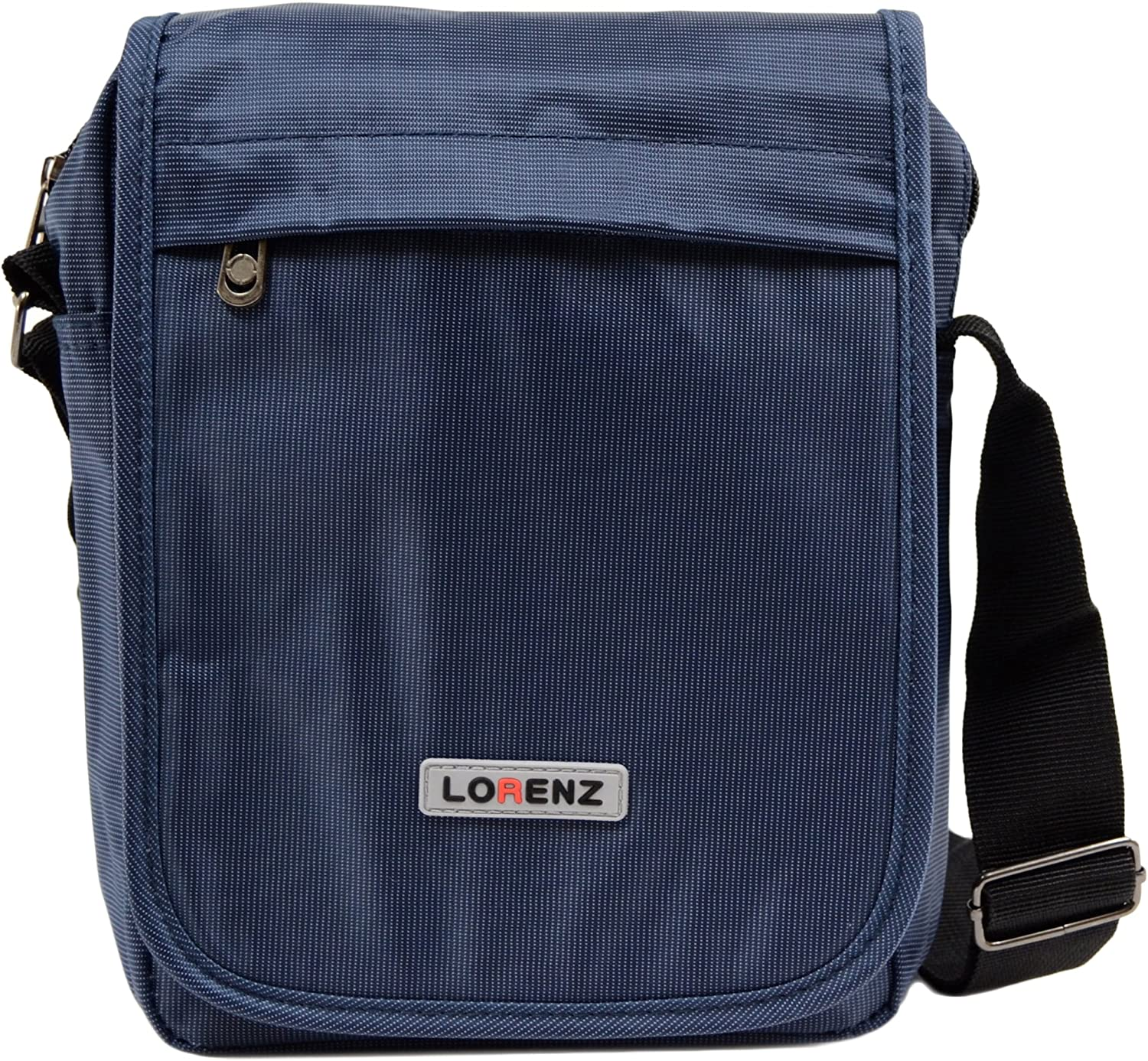 Mens   Ladies Sleek Nylon   Canvas Style Travel   Work 'Small Canvas' Shoulder Bag - Navy