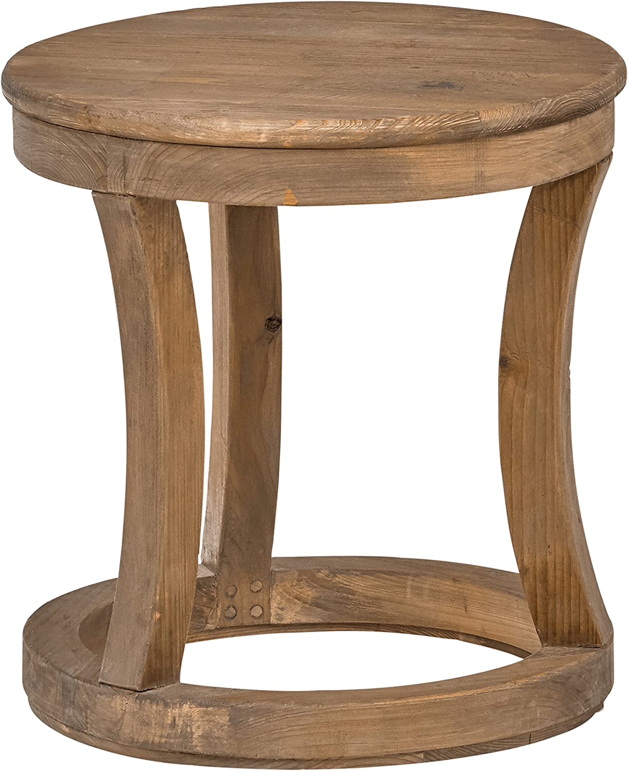 Stone & Beam Modern Rustic Reclaimed Elm Side Table, 17  W, Natural