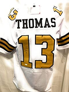 64d1e202a Michael Thomas New Orleans Saints Signed Autograph White Custom Jersey  Color Rush JSA Witnessed Certified