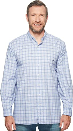 Big & Tall Twill Long Sleeve Sport Shirt