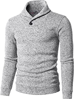 be9834a8f48 H2H Mens Casual Slim Fit Pullover Sweatshirts Knitted T-Shirts Thermal  Napping Inside of Various
