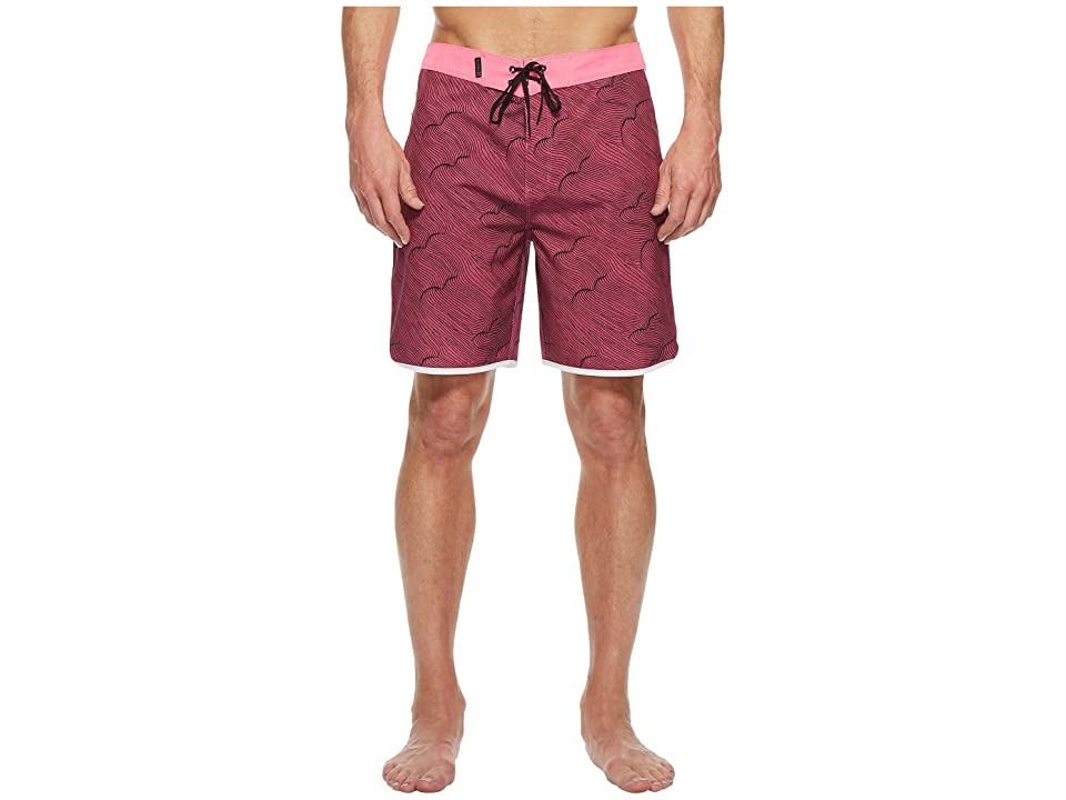 Hurley Phantom Thalia Street 18 Boardshorts (Hyper Pink) Men