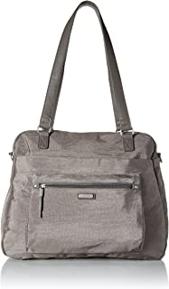 Baggallini Overnight Expandable Laptop Tote with RFID Phone Wristlet (Sterling Shimmer)