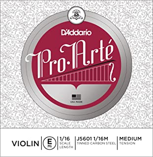 D'Addario Pro-Arte Violin Single E String Medium Tension 1/16 Scale
