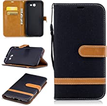 Galaxy J7 2017 Wallet Case, Galaxy J7 V Case, Galaxy J7 Perx Case, Galaxy J7 Sky Pro Case, Easytop Wallet Flip Protective Case Cover with Card Slots and Stand for Samsung Galaxy J7 2017 (Black)