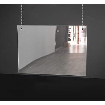 Mampara Proteccion Colgante. Irrompible. Medidas 500x500 mm. Lavable para higine TOTAL. Montaje colgado del techo para no quitar espacio de mostrador.: Amazon.es: Bricolaje y herramientas