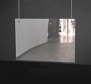 Mampara de Protección | Material Policarbonato Transparente Filtro UV | Cadena no Incluida | 2 mm de Grosor | 102 X 70 cm