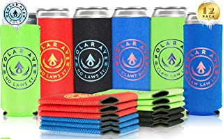 (12 Pack   Multi Colors) Neoprene Slim Can Koozie Sleeve Cooler for White Claw, 12 oz Tall Skinny Beer Cans & Bottles, Michelob Ultra, Red Bull, Spiked Seltzer, Truly- Not a Boring Blank Coozie Sleeve