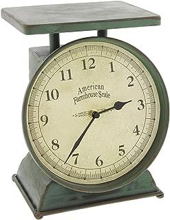 Park Hill Vintage Style Farmhouse Scale Table Clock
