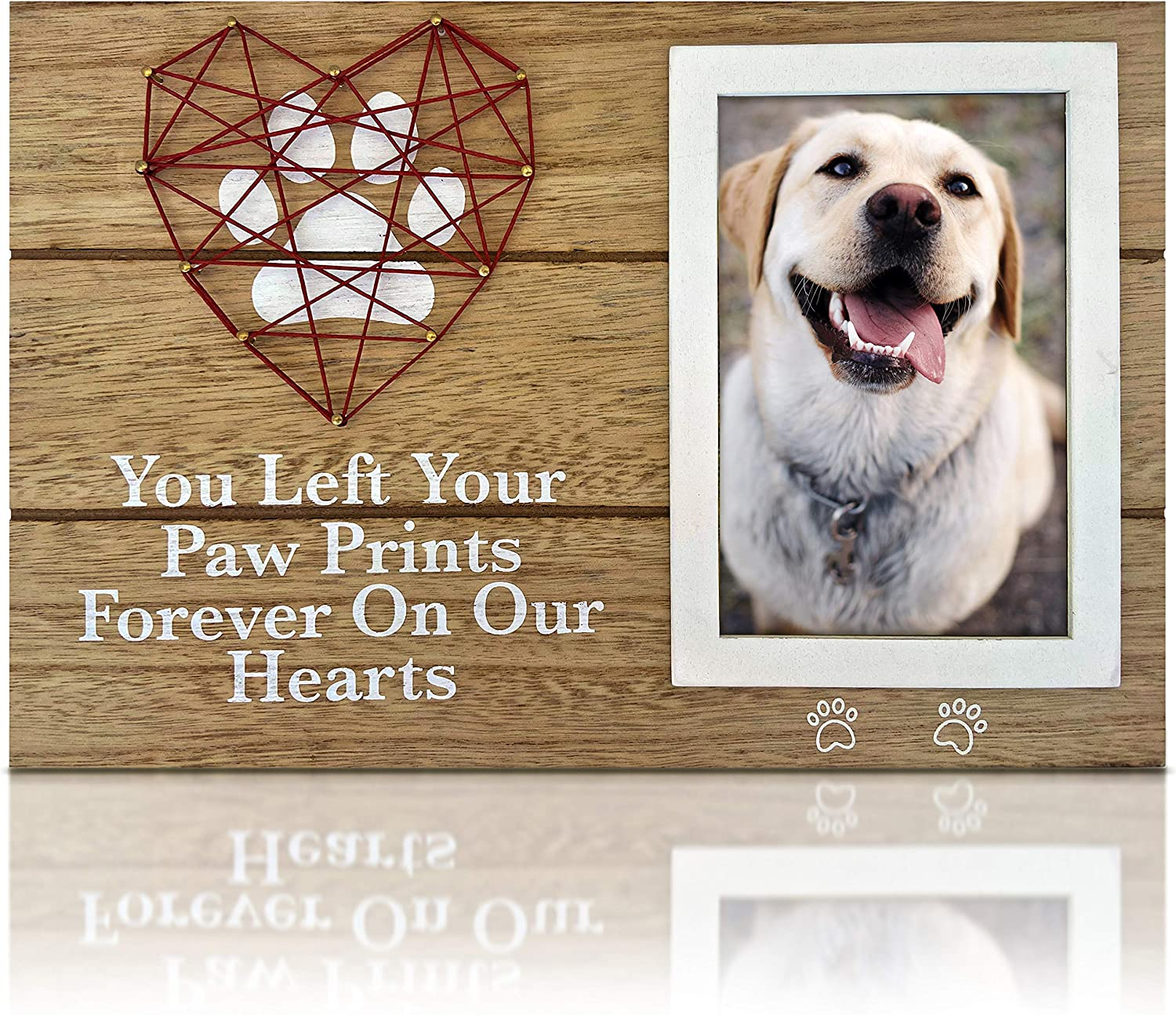 OakiWay Popular products Pet Memorial Gifts - 4x6 Paw with Max 46% OFF Picture Frame Prin Dog