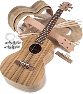 StewMac Build Your Own Walnut Tenor Ukulele Kit, with Walnut Top