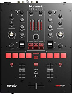 Numark Scratch - Two-Channel DJ Scratch Mixer for Serato DJ Pro (included) With Innofader Crossfader, 6 Effect Selectors &...