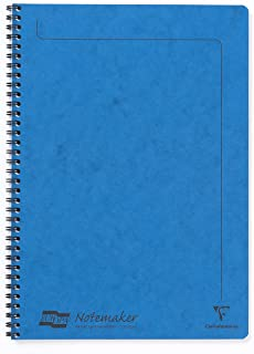 Clairefontaine Europa A4 Notemaker, Lined Notebook, 120 Pages, Blue
