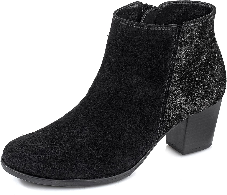 Damen Stiefelette Gabor Art. Nr. 91.672.67 schwarz Größe 36,5 - 41, Damen Größen 7 (41);Farben schwarz