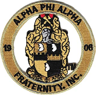 Alpha Phi Alpha Fraternity, Inc. Round Cut-Out Iron-On Patch [Old Gold - 2.875