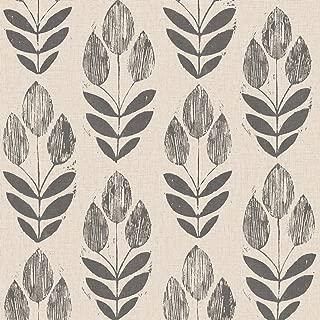 block print tulip wallpaper
