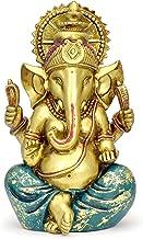 Ganesha Statue Elephant Hindu God of Success Large 9.5-inch-tall Resin Ganesh Idol Hand-Painted in Gold Indian Decor Perfe...