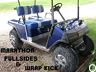 Ezgo Marathon Golf Cart Diamond Plate Full Side Panels and Wrap Kick Set