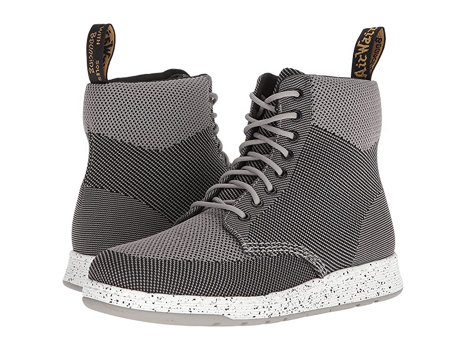 Dr. Martens Rigal Knit (Mid Grey/Black Knit) Lace up casual Shoes