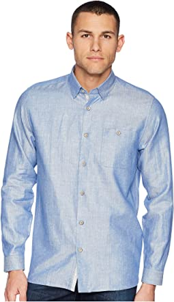 Linlins Long Sleeve Linen Woven Shirt