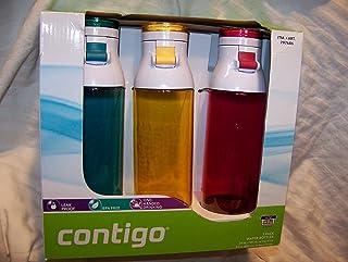 Contigo Jackson 康迪克 拉环运动杯 24盎司 3件装 海洋蓝/菊花黄/桑格利亚红