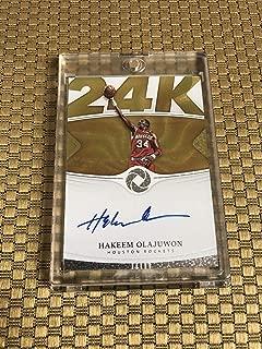 2018-19 Panini Opulence K-24 Gold Hakeem Olajuwon Sp 75/79 On Card Auto Rockets - Panini Certified - Unsigned Basketball Cards