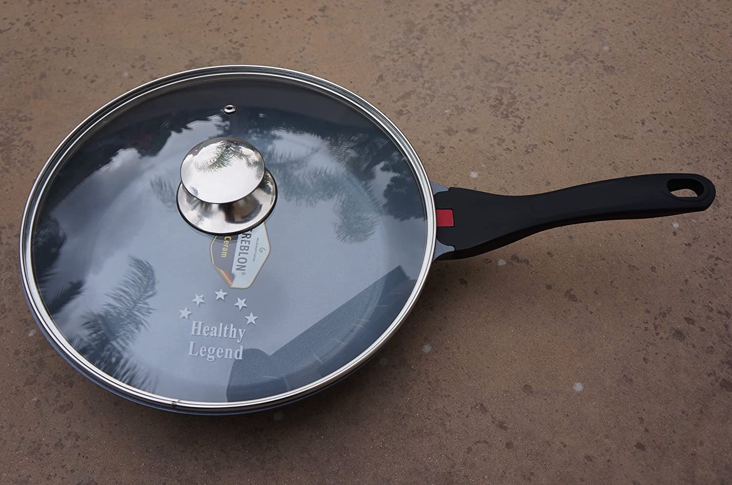 New Healthy Legend 11.2  (28cm) Fry Pan with Non-stick German Weilburger Ceramic Coating - Temperature Indicator, Induction Ready, ECO Friendly Non-toxic Cookware
