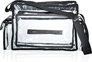 SHANY Cosmetics Clear Makeup Bag Pro Mua Cosmetics Travel Bag with Shoulder Strap, Rectangle