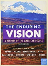 Bundle: The Enduring Vision, Volume II: Since 1865, Loose-leaf Version, 9th + MindTap History, 1 term (6 months) Printed Access Card