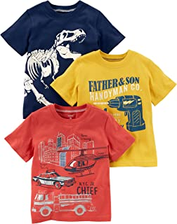 Boys' Toddler 3-Pack Short-Sleeve Graphic Tee