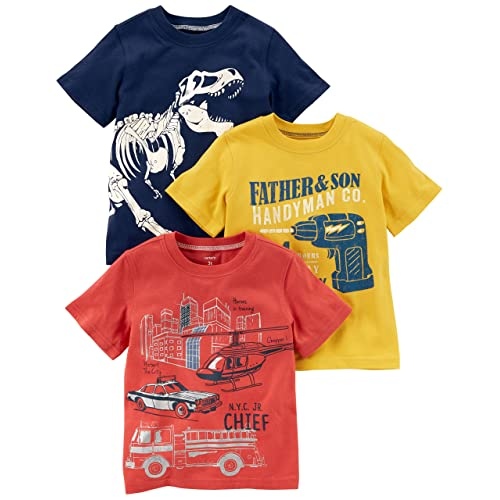818ea3d1 Carter's Baby Boys' Toddler 3-Pack Short-Sleeve Graphic Tee