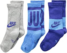 Nike Kids - Performance Cushioned Crew Training Socks 3-Pair Pack (Little Kid/Big Kid)