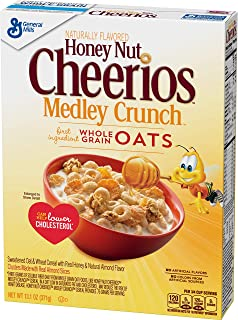 Honey Nut Cheerios Medley Crunch Cereal 13.1 oz Box (pack of 12)