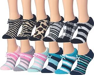 Women's Colorful Fuzzy Sliper Socks