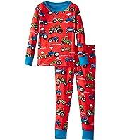 Hatley Kids - Farm Tractors PJ Set (Toddler/Little Kids/Big Kids)