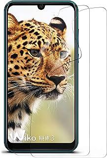 moex kristallklar HD skyddsfilm kompatibel med Wiko View3   displayskyddsfilm reptålig nästan osynlig, ultraklar 2 x stycken
